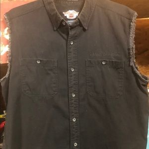 Harley Davidson Sleeveless Shirt - Men XL